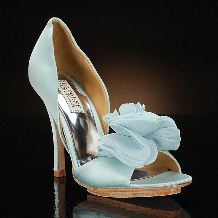 Mint Wedding Shoes Low Heel