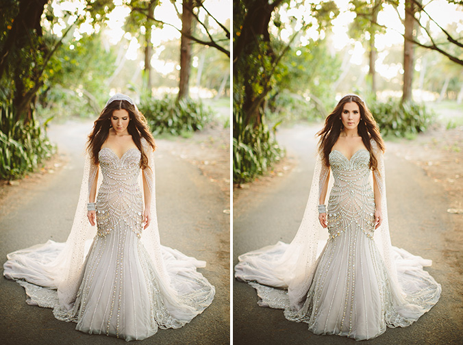 Celebrity wedding amber ridinger and duane mclaughlin i for Puerto rican wedding dress