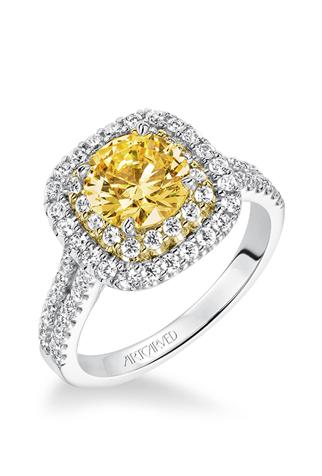 Lena Double Halo Engagement Ring 3000 Suggested Retail Price Center Stone Not Included ArtCarved