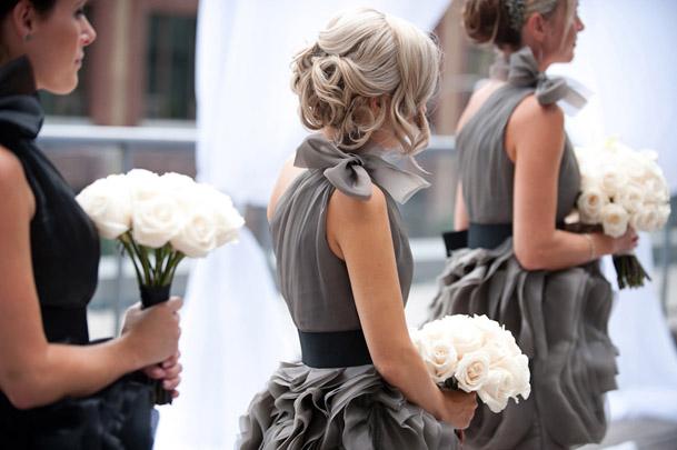11 Vera Wang Grey Black Bridesmaid Dresses I Do Ghana