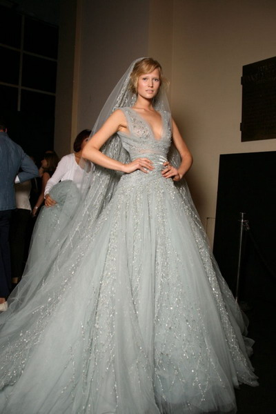Grey Wedding Dress hd photo