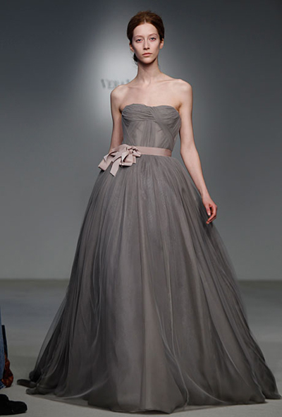 Vera wang grey wedding dress spring 2012 i do ghana for Gray dresses for a wedding