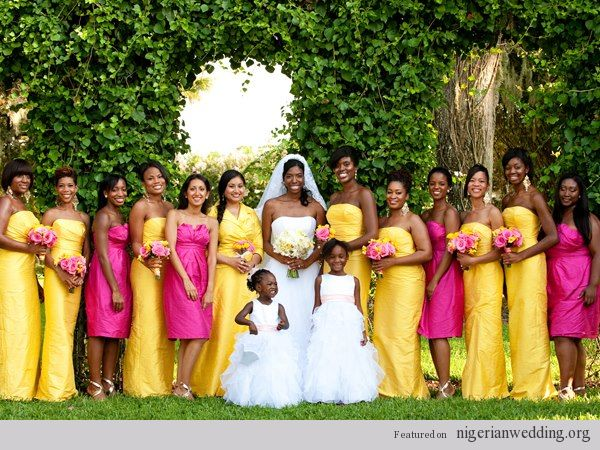 Pink And Yellow Wedding Dresses : Pics photos nigerian wedding yellow and fuschia pink