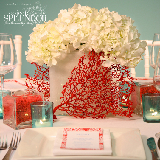 Beach Wedding Centerpieces Ideas: INSPIRED! ALL THINGS CORAL WITH HELENEOPM EVENTS