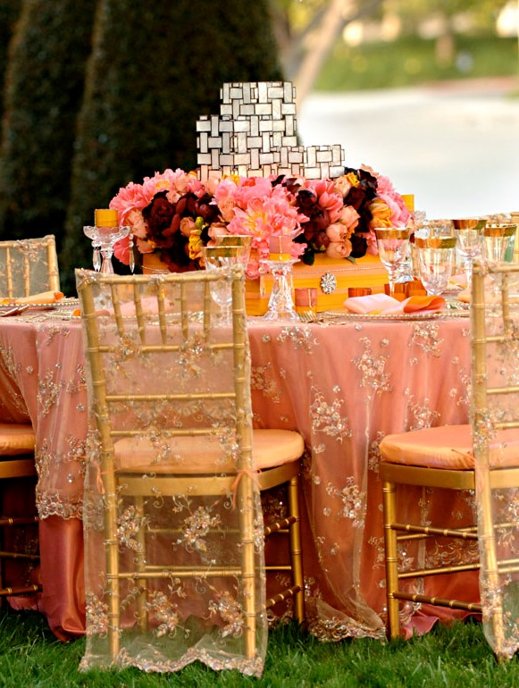 Inspired all things coral with heleneopm events i do ghana for Outdoor wedding reception ideas