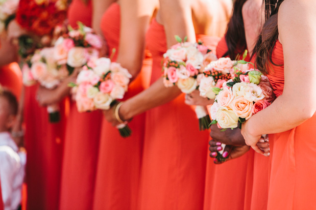 peach-bridesmaid-bouquets – I do Ghana