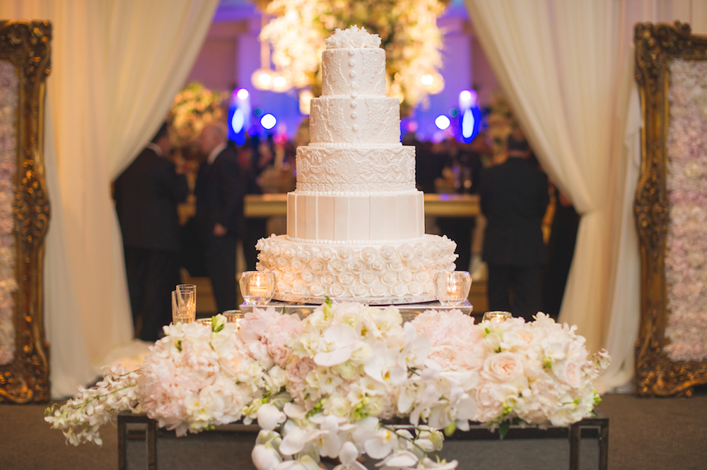 Golden Gourmet Wedding Cakes