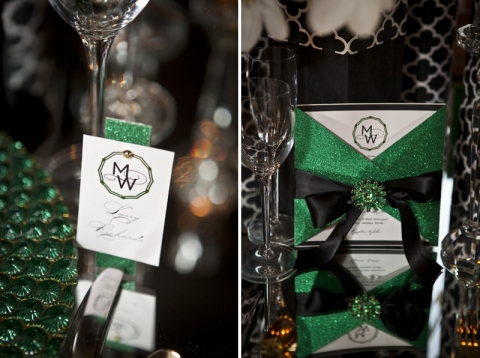 design inspiration elegant emerald green gold and black With black white and emerald green wedding invitations