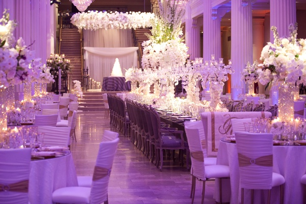 Decor themes white gold with a splash of purple lighting i do ghana wedding decoration ideas purple and gold junglespirit Choice Image