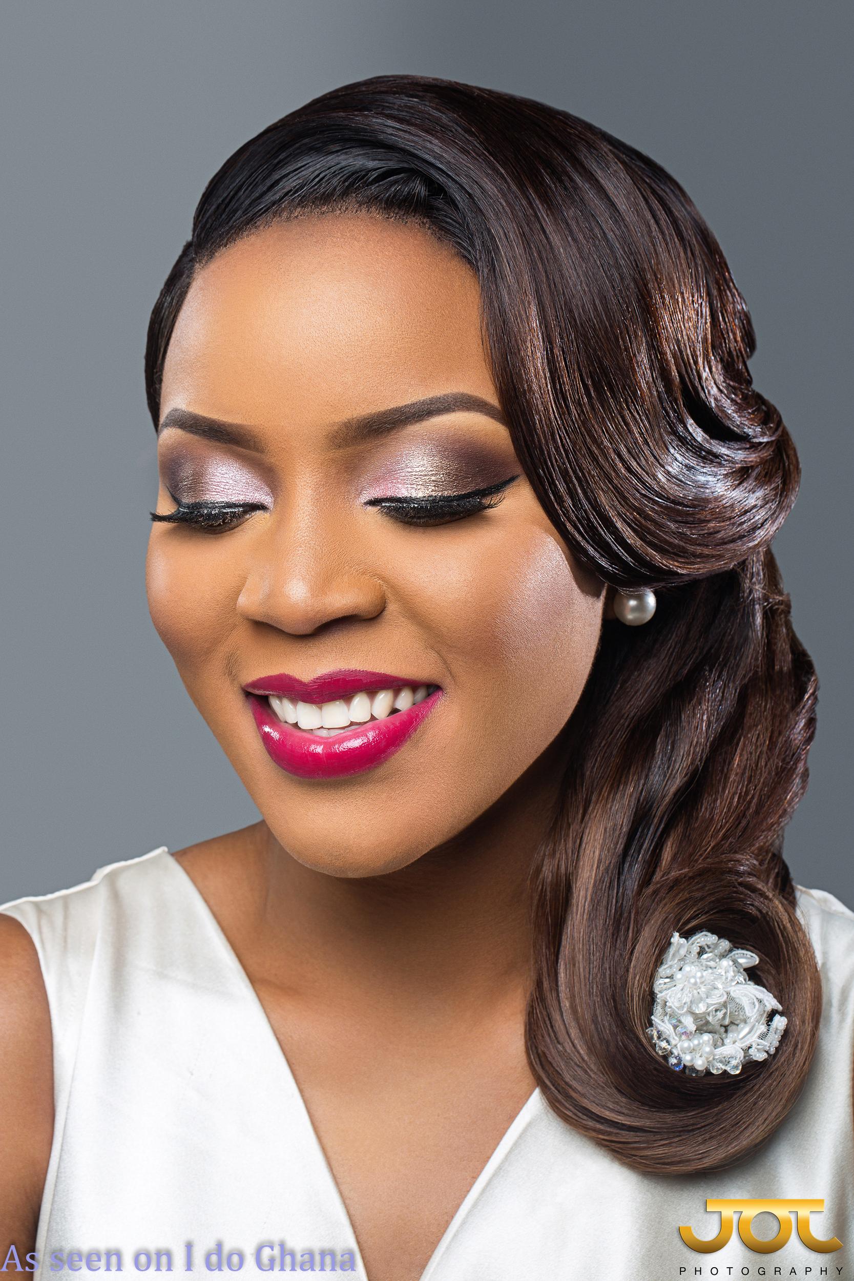 Bridal Beauty Inspiration Short Hair To Side Do I Do Ghana